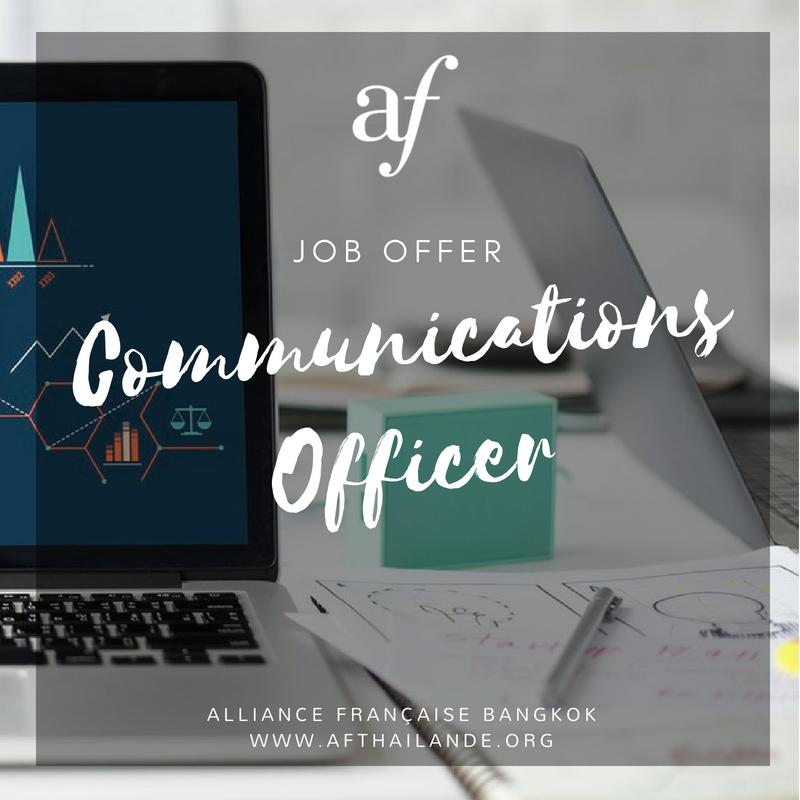Job Offer Junior Communications Officer M F Alliance Francaise